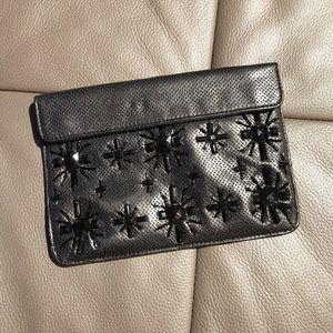 ZARA small black clutch bag